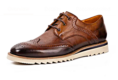Brown Grand Wingtip Oxford