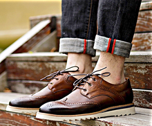 Load image into Gallery viewer, Brown Grand Wingtip Oxford