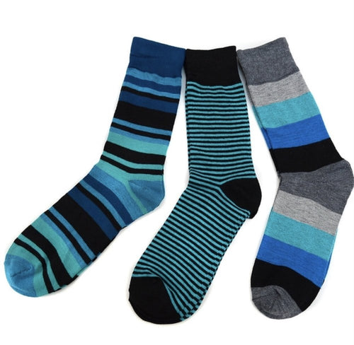 Green Striped Casual Fancy Socks (3Pair)