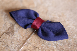Navy Ribbon Bow