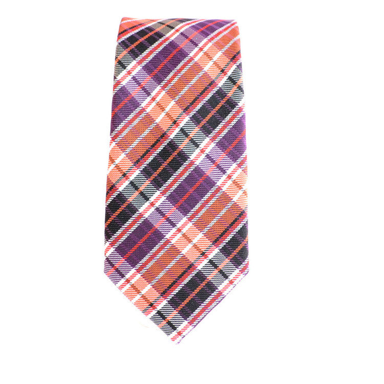 Small Plaid Orange (Modern Cut)