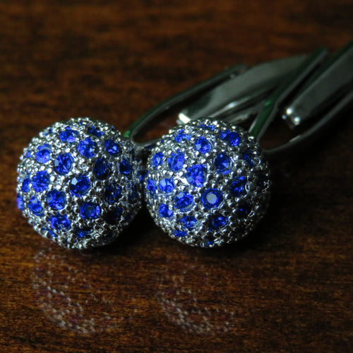 Blue Metal Ball Cufflinks