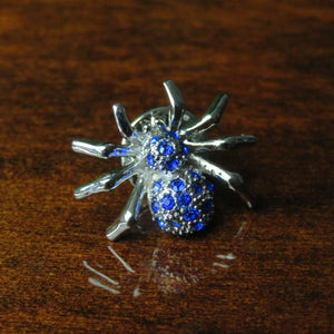 Blue Spider Lapel Pin