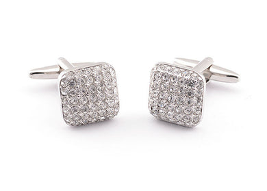 Silver Square Stones Cufflinks