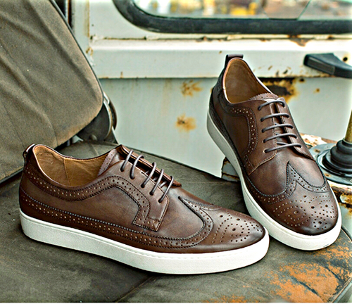 Brown Wingtip Sneakers