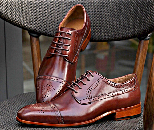 Coffee Owings Cap Toe Oxfords