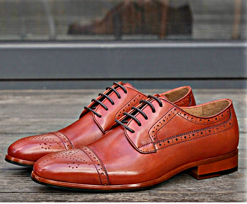 Brown Owings Cap Toe Oxfords