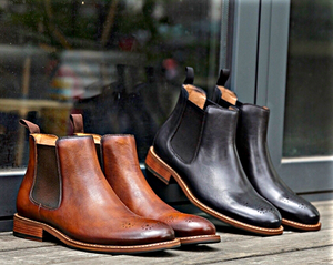 Brown Motif Chelsea Boots
