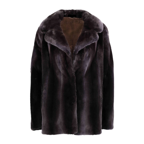 Dyed Mink Flared Back Jacket - Style 7711