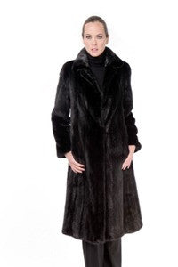 Nat. Blackglama Mink Fitted 7/8 Coat - Style 054