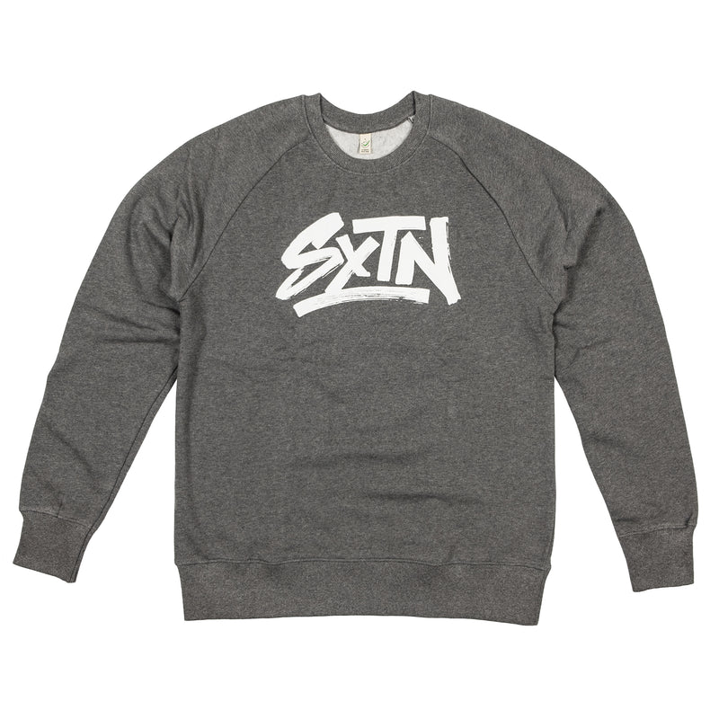 SXTN LOGO SWEATER DARK HEATHER