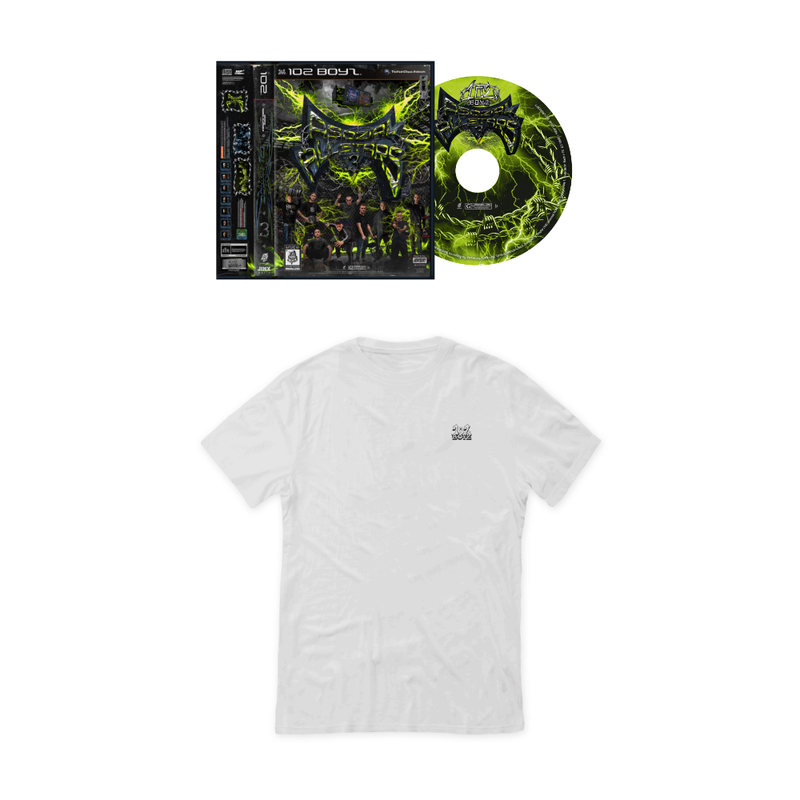 102 BOYZ T-SHIRT (weiß) + CD BUNDLE