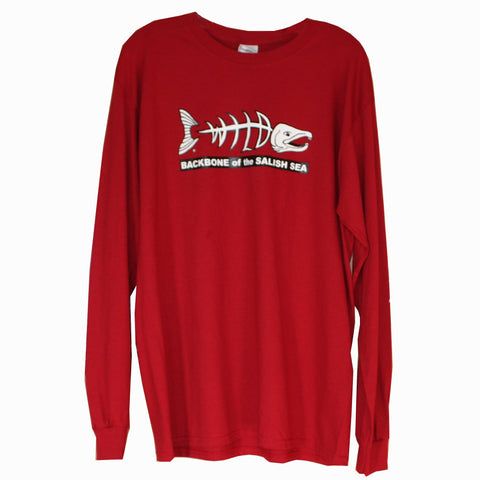 Red Backbone of the Salish Sea Tee Long Sleeve