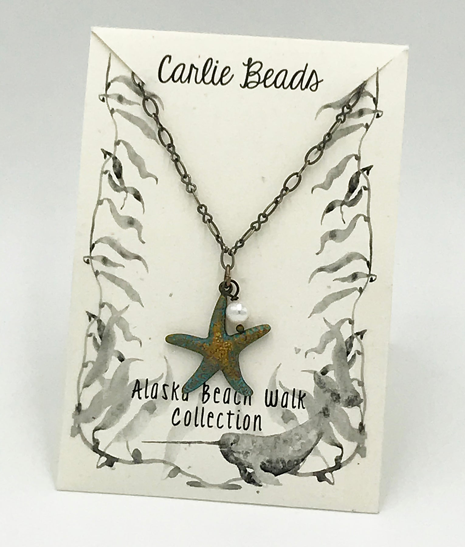 Starfish Vintage Charm Necklace