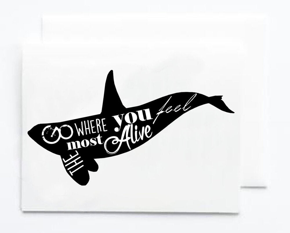 Orca Quote Note Card