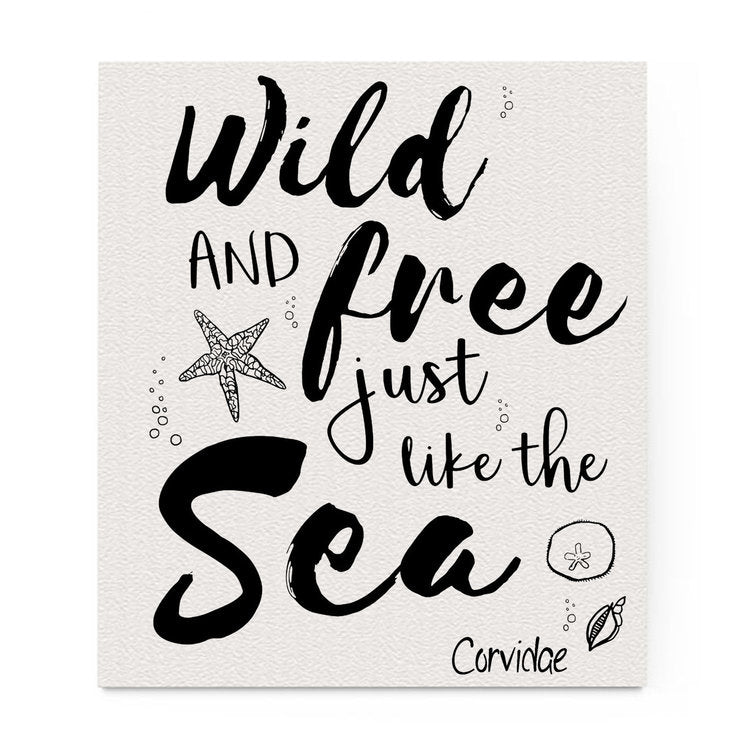 Compostable Dishcloth: Wild and Free Just Like the Sea