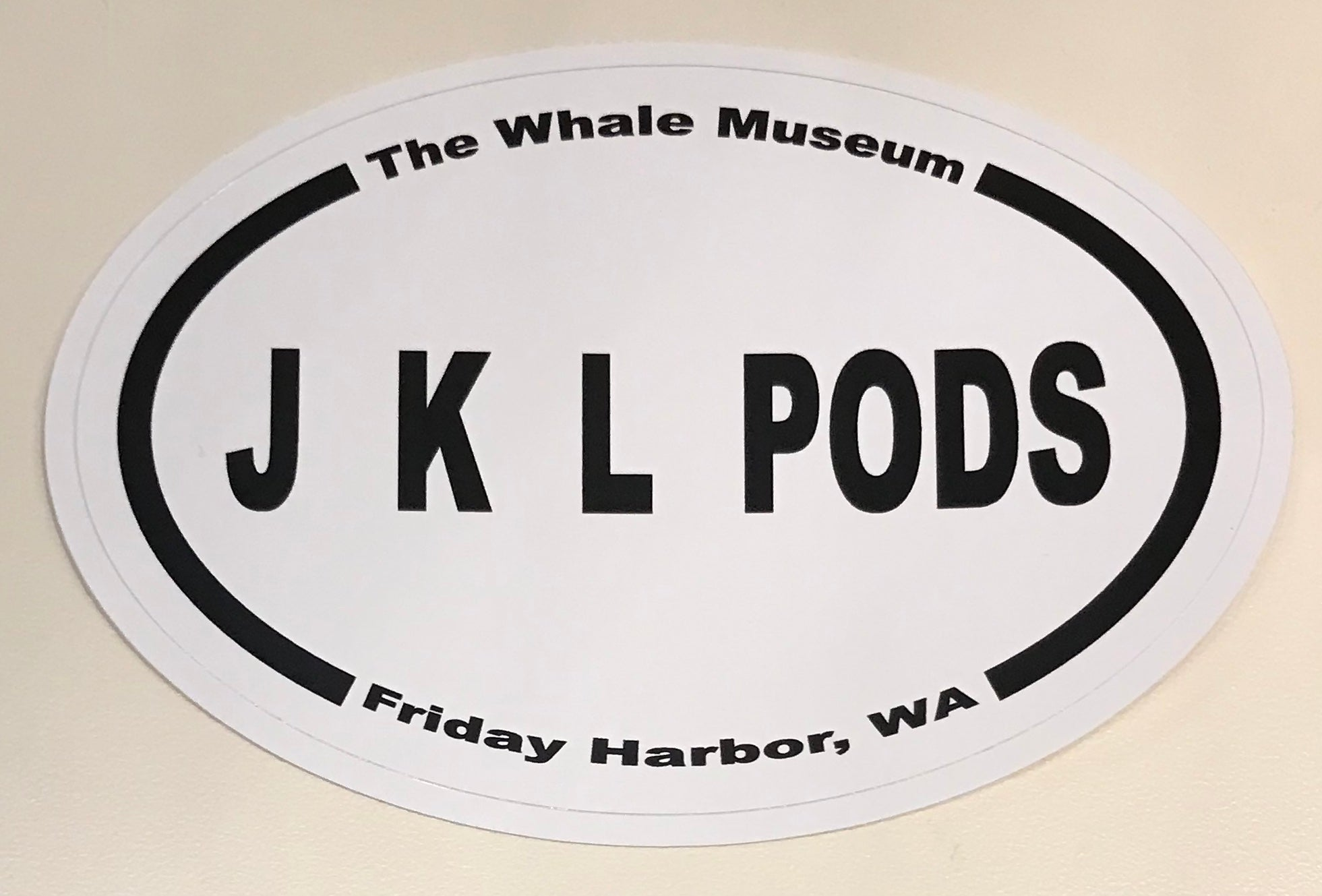 JKL Pods Oval Sticker
