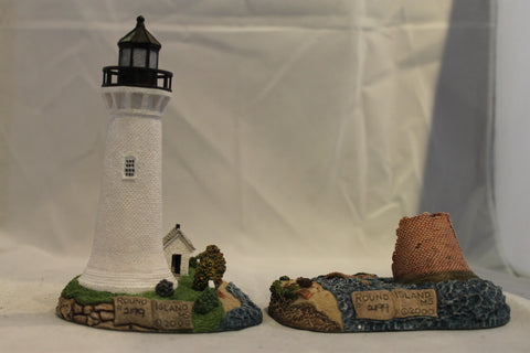 Collector Lighthouse: Round Island, matched set - Then and Now #HL242