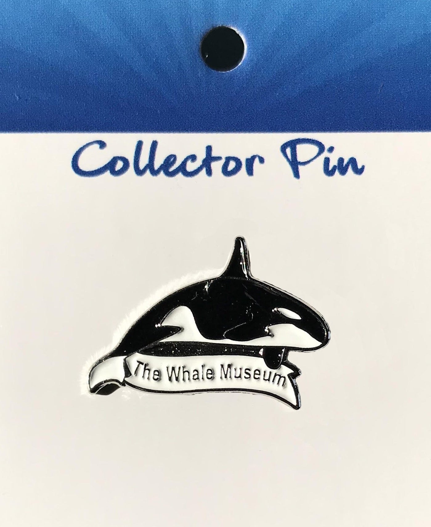 Orca Lapel Pin W/The Whale Museum Banner