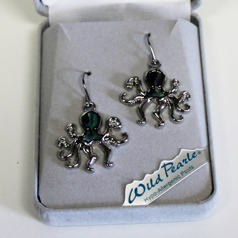 Wild Pearle Octopus Earrings