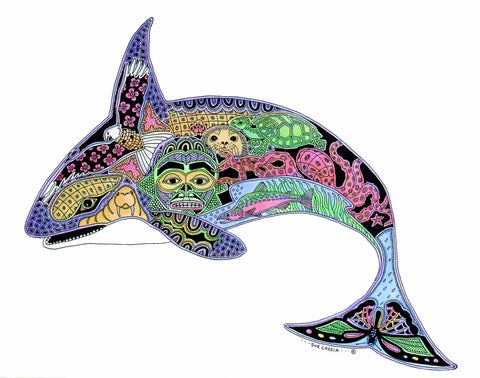 T-Shirt: Earth Art Orca, Adult