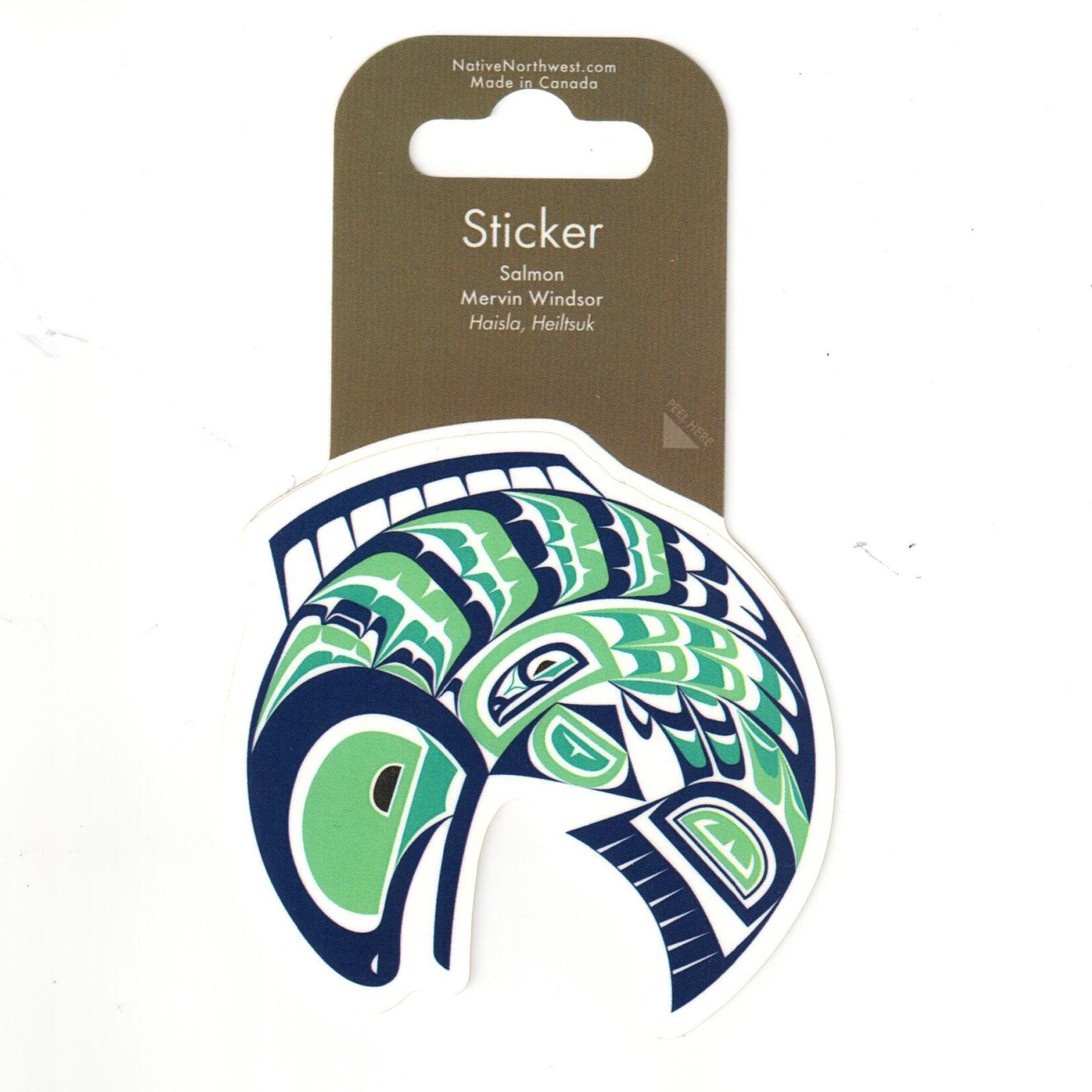 Salmon sticker by Windsor