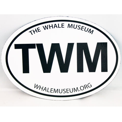 Oval The Whale Museum Magnet