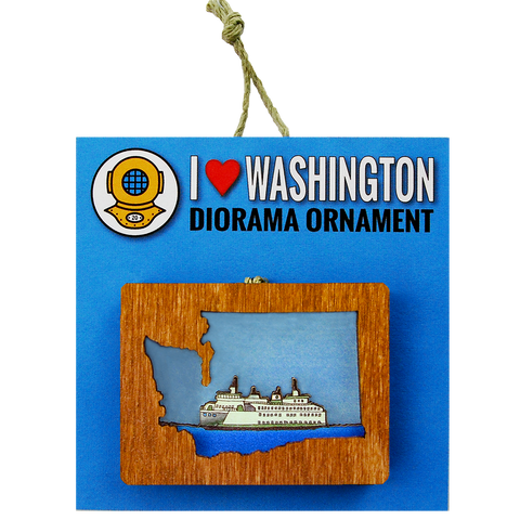 Ornament: 3D Island Ferry WA