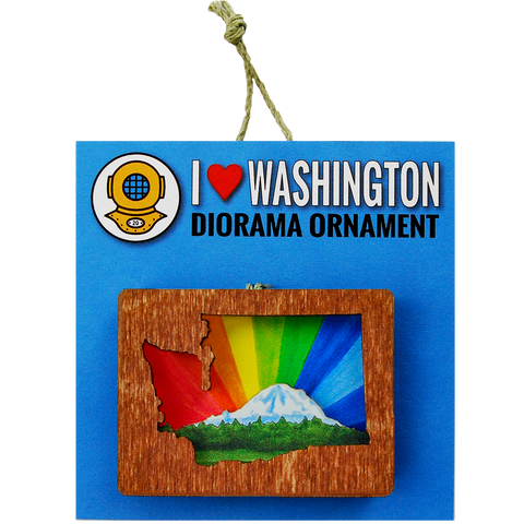 Ornament: 3D Rainbow Mount Rainier