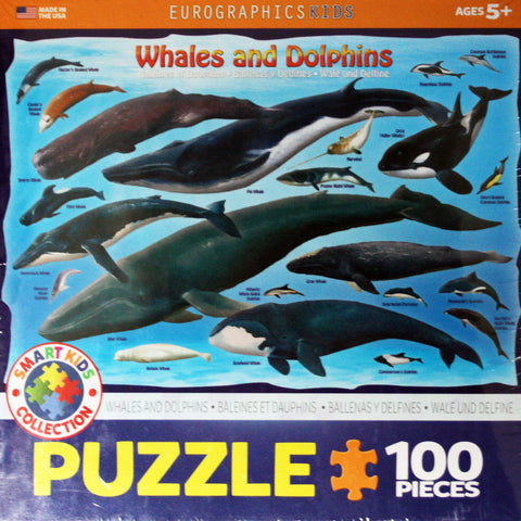 whales & dolphins puzzle 100 piece