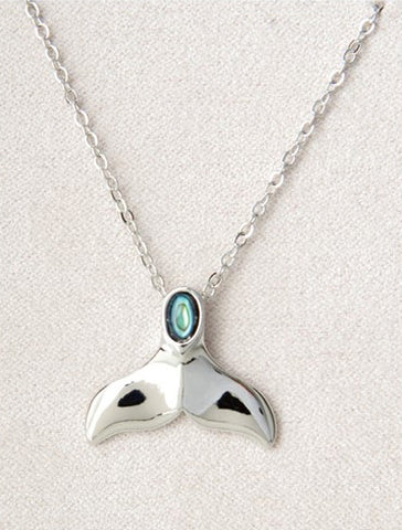 Whale Tail  Necklace Wild Pearle Jewel