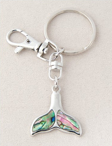Whale Tail Keychain