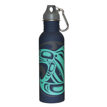 Matte Water Bottle - Killer Whale by Trevor Angus