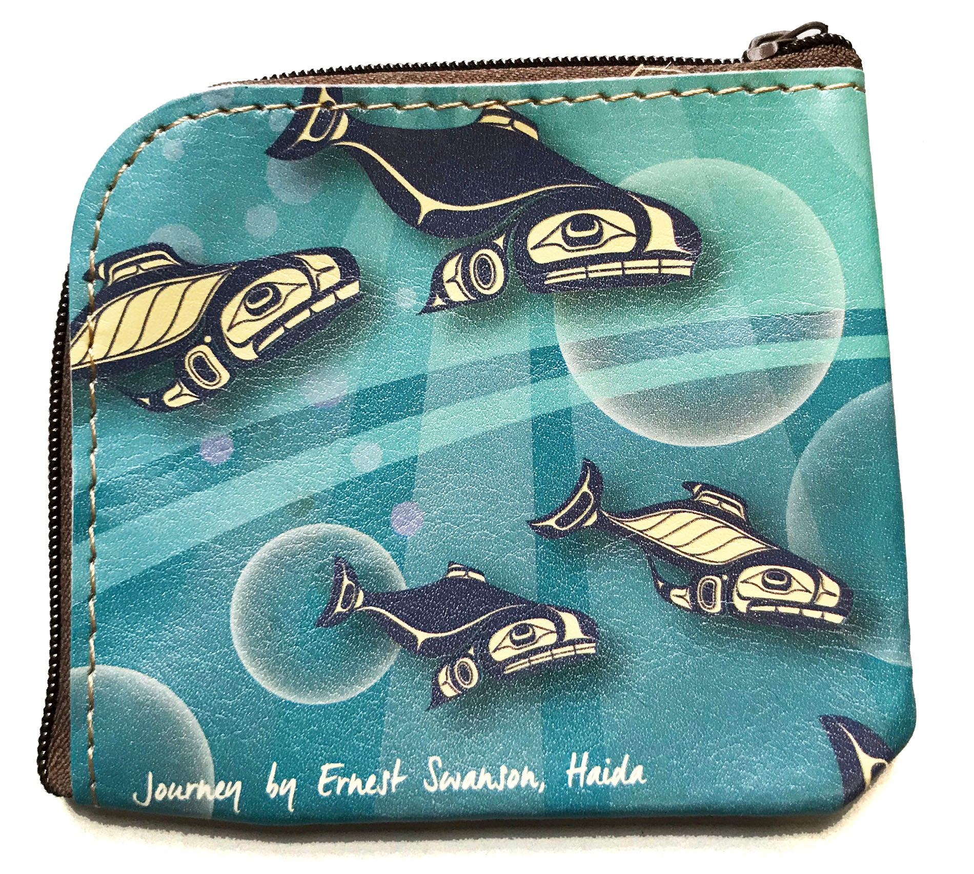 Salmon Journey coin purse
