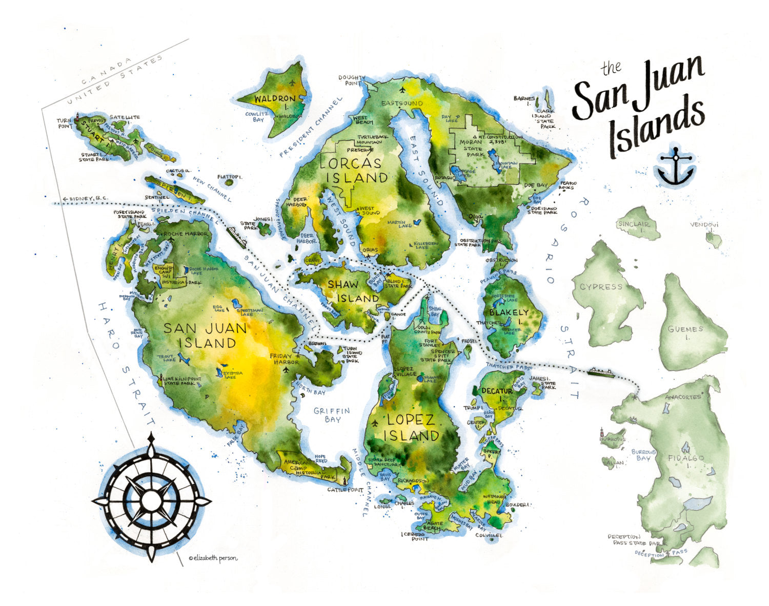 Elizabeth Person Art Prints: San Juan Islands