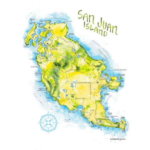 Elizabeth Person Art Prints: San Juan Island