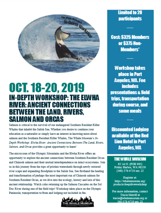 In Depth Workshop: The Elwha Project and Orca & Salmon Recovery