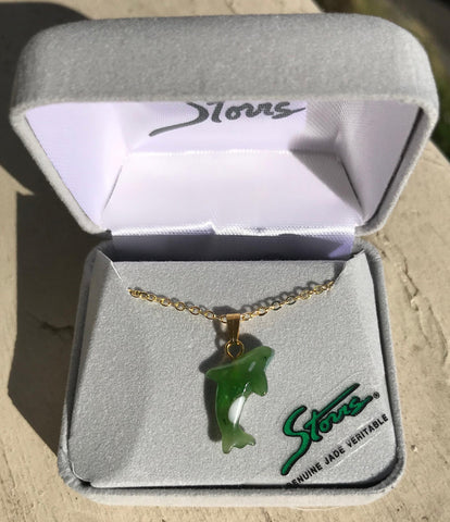 Jade Orca Whale Necklace