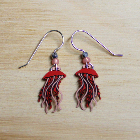 Coral Pink Jellyfish Earrings