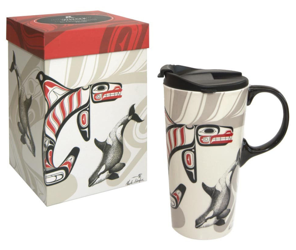 Porcelain Travel Mug: Whale