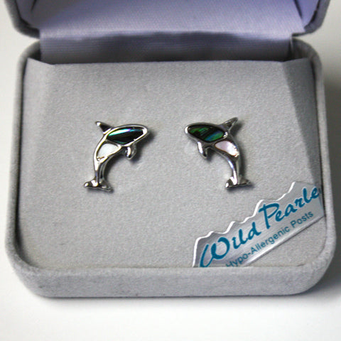 Wild Pearle orca stud earrings