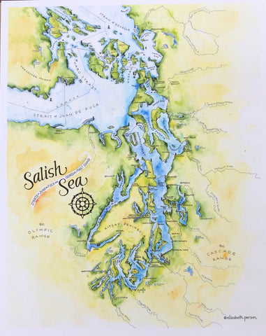 Elizabeth Person Art Prints: Salish Sea