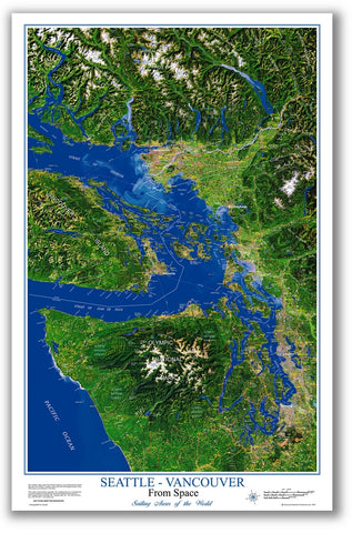 Seattle-Vancouver from space poster #1