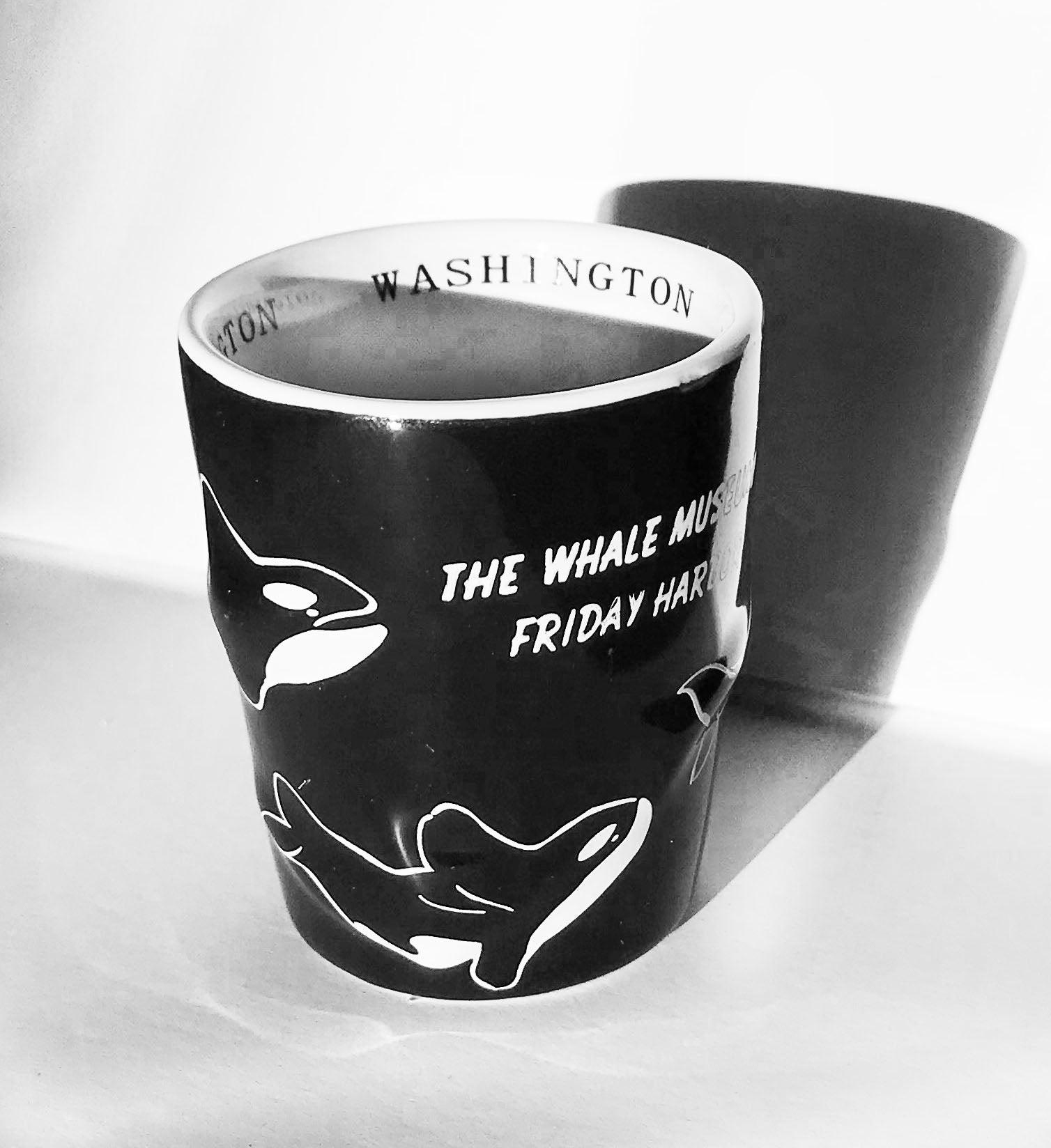Black Orca Shot Glass