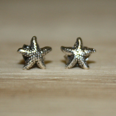 Silver Starfish Post earrings