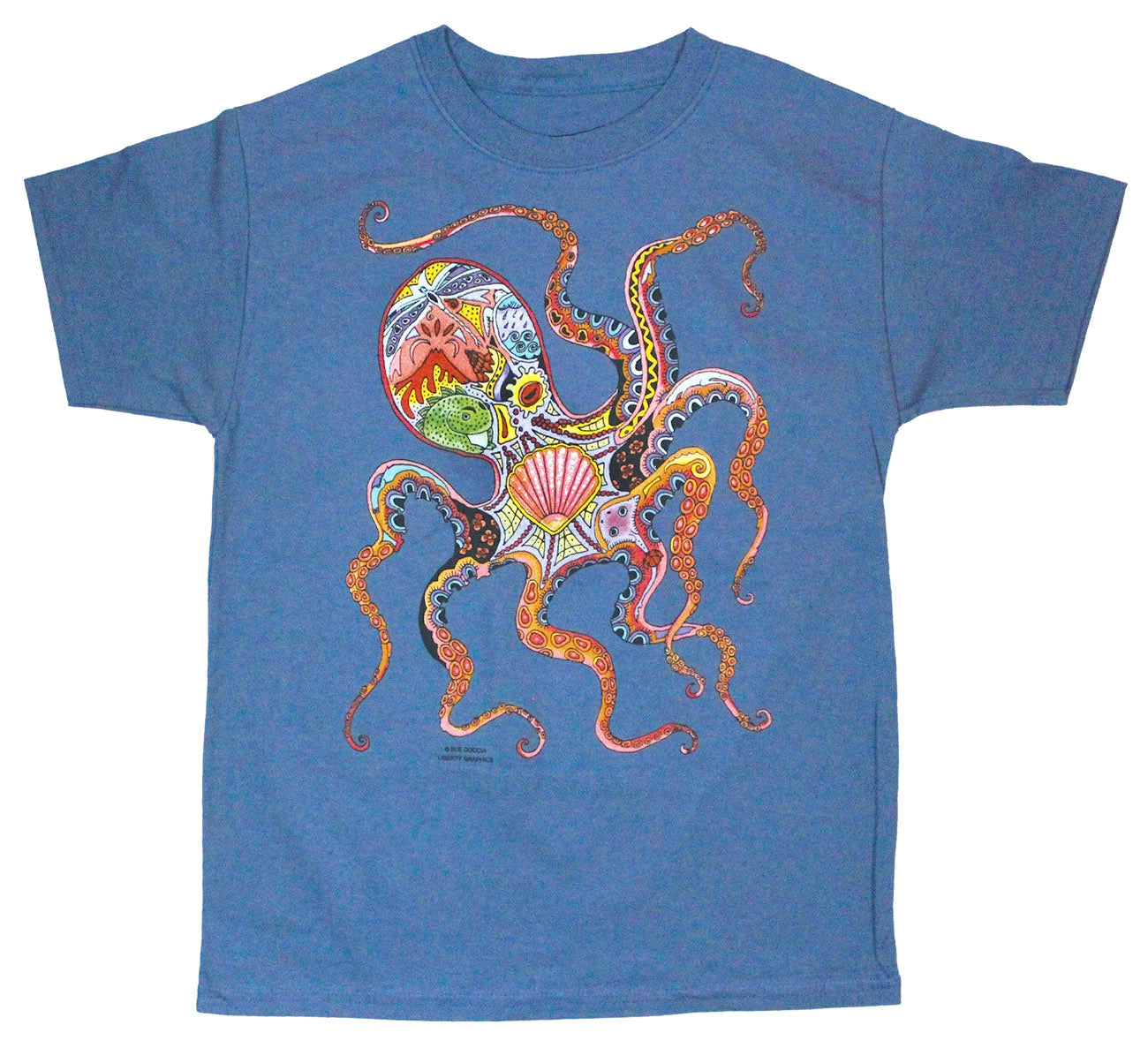 T-Shirt: Sue Coccia Octopus, Youth Sizes
