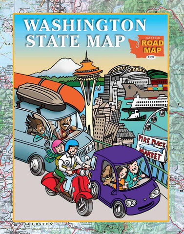 Washington State Easy Fold Road Map