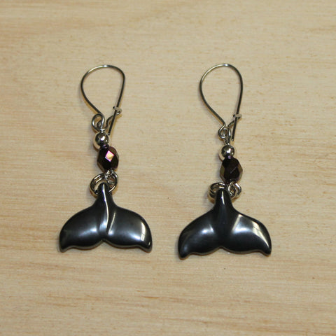 Earring Carved Whale Tail