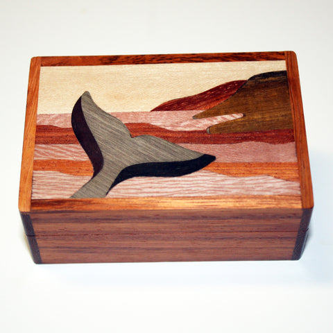 Wooden Whale Tail Box