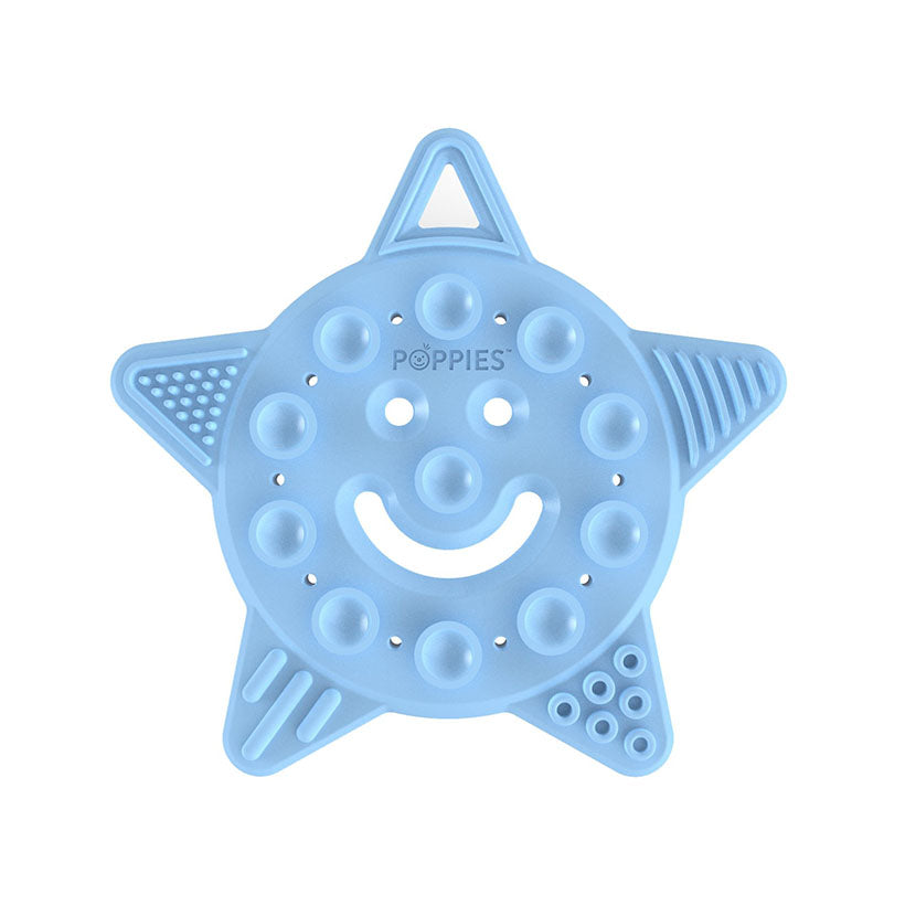Smiley The Star Teether in Baby Blue